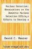 cover of Nuclear Detection: Observations on the Domestic Nuclear Detection Offices Efforts to Develop a Global Nuclear Detection Architecture: Congressional Testimony