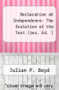 cover of Declaration of Independence: The Evolution of the Text (rev. Ed. )