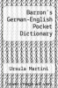 cover of Barron`s German-English Pocket Dictionary (2nd edition)