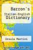 cover of Barron`s Italian-English Dictionary (2nd edition)