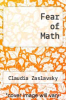 cover of Fear of Math