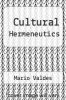 cover of Cultural Hermeneutics