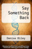 cover of Say Something Back