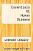 cover of Essentials Of Human Disease (2nd edition)