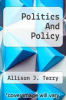 cover of Politics And Policy