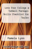 cover of Lone Star College @ Tomball Package: Skills Checklist for Taylor