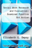 cover of Social Work Research and Evaluation