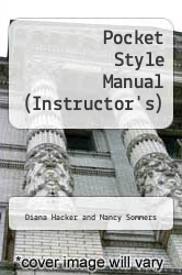 Cover of A Pocket Style Manual 6 (ISBN 978-1457602399)
