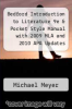 cover of Bedford Introduction to Literature 9e & Pocket Style Manual with 2009 MLA and 2010 APA Updates (9th edition)