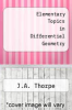 cover of Elementary Topics in Differential Geometry