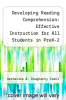 cover of Developing Reading Comprehension: Effective Instruction for All Students in PreK-2