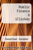 cover of Public Finance & iClicker (3rd edition)