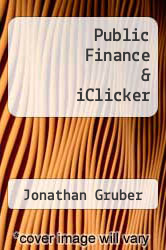 Cover of Public Finance & iClicker 3 (ISBN 978-1464110535)