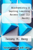 cover of Biochemistry & Sapling Learning Access Card (12 Month) (7th edition)