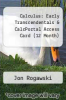 cover of Calculus: Early Transcendentals & CalcPortal Access Card (12 Month) (2nd edition)