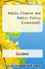 cover of Public Finance and Public Policy (Looseleaf) (5TH 16)