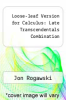 cover of Loose-leaf Version for Calculus: Late Transcendentals Combination (3rd edition)