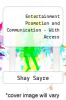 cover of Entertainment Promotion and Communication (3rd edition)