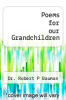 cover of Poems for our Grandchildren