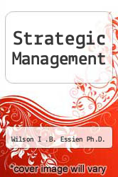 Cover of Strategic Management EDITIONDESC (ISBN 978-1467872850)