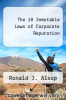 cover of The 18 Immutable Laws of Corporate Reputation