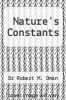 cover of Nature`s Constants