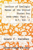 cover of Lexicon of Geologic Names of the United States for 1936-1960: Part 1, A-F, Vol. 2