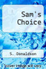 cover of Sam`s Choice