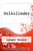 cover of Volkslieder