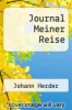 cover of Journal Meiner Reise