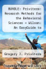 cover of BUNDLE: Privitera: Research Methods for the Behavioral Sciences + Wilson: An EasyGuide to Research Presentations