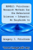 cover of BUNDLE: Privitera: Research Methods for the Behavioral Sciences + Schwartz: An EasyGuide to Research Design & SPSS