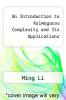 cover of An Introduction to Kolmogorov Complexity and Its Applications (3rd edition)