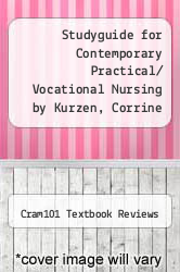 Cover of Studyguide for Contemporary Practical/ Vocational Nursing by Kurzen, Corrine R. EDITIONDESC (ISBN 978-1490236377)