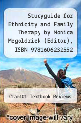 Cover of Studyguide for Ethnicity and Family Therapy by Monica Mcgoldrick (Editor), ISBN 9781606232552 3 (ISBN 978-1490278612)