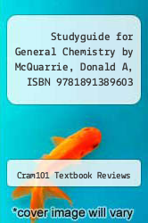 Cover of Studyguide for General Chemistry by McQuarrie, Donald A, ISBN 9781891389603 EDITIONDESC (ISBN 978-1490294933)