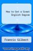 cover of How to Get a Great English Degree