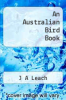 cover of An Australian Bird Book