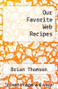 cover of Our Favorite Web Recipes