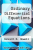 cover of Ordinary Differential Equations
