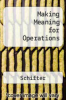 cover of Making Meaning for Operations: In the Domain of Whole Numbers and Fractions