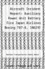 cover of Aircraft Incident Report: Auxiliary Power Unit Battery Fire Japan Airlines Boeing 787-8, JA829J Boston, Massachusetts January 7, 2013
