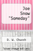 "cover of Joe Snow ""Someday"""