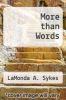 cover of More than Words