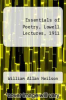 cover of Essentials of Poetry, Lowell Lectures, 1911