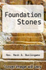 cover of Foundation Stones