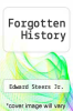 cover of Forgotten History