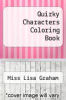 cover of Quirky Characters Coloring Book