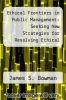 cover of Ethical Frontiers in Public Management: Seeking New Strategies for Resolving Ethical Dilemmas (1st edition)
