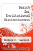 cover of Search for Institutional Distinctiveness